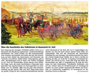 Über die Geschichte des Volksfestes in Neumarkt-St. Veit