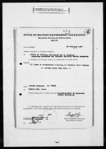 StaBi WK II: Ausgelagerter Bestand in St. Veit
