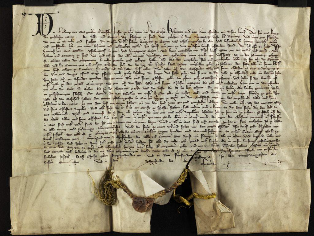 Bestätigungsurkunde Kaiser Ludwig des Bayern vom 21. Januar 1345