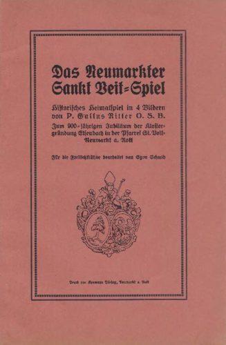 Neumarkter Sankt Veit-Spiel 1931 Text)